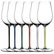 Набор бокалов для белого вина Riesling/Zinfandel Riedel Fatto a Mano, 395мл, цветные ножки - 6шт - арт.7900/15, фото 1