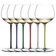 Набор бокалов для вина Oaked Chardonnay Riedel Fatto a Mano, 620мл, цветные ножки - 6шт - арт.7900/97, фото 1
