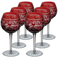 Бокалы для вина Ajka Crystal Monica, 360мл - 6шт, бордовые - арт.88580/49252/46404, фото 1