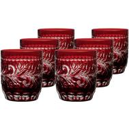 Стаканы низкие Ajka Crystal Monica, 360мл - 6шт, бордовые - арт.88582/49252/46404, фото 1