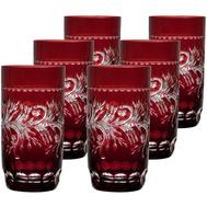 Стаканы большие Ajka Crystal Monica, 400мл - 6шт, бордовые - арт.88583/49252/46404, фото 1