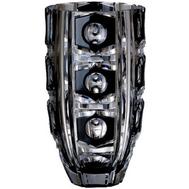 Ваза для цветов Ajka Crystal Checker Light - 30см, черная - арт.94809/49876/47078, фото 1