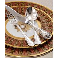 Серебряные столовые приборы Gadroon Royal Buckingham, 6 персон 43 предмета, фото 1