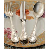 Серебряные столовые приборы Victorian Bead Royal Buckingham, 6 персон 44 предмета, фото 1