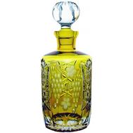 Графин для воды Ajka Crystal Grape, 700мл, желтый, цветной хрусталь - арт.amber/64567/51380/48359, фото 1