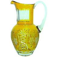 Кувшин хрустальный Ajka Crystal Grape, 1200мл, желтый - арт.amber/64571/51380/48359, фото 1