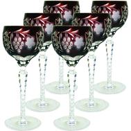 Набор бокалов для вина Ajka Crystal Grape, 230мл - 6шт - арт.darkruby/64572/51380/48359, фото 1