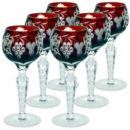 Рюмки ликерные Ajka Crystal Grape, 60мл - 6шт, бордовые - арт.darkruby/64575/51380/48359, фото 1