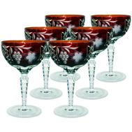 Бокалы хрустальные Ajka Crystal Grape, 210мл - 6шт, бордовые - арт.darkruby/64576/51380/48359, фото 1