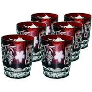 Набор стаканов Ajka Crystal Grape, 390мл - 6шт, цветной хрусталь - арт.darkruby/64580/51380/48359, фото 1