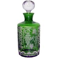 Графин для воды Ajka Crystal Grape, 700мл, зеленый, цветной хрусталь - арт.emerald/64567/51380/48359, фото 1