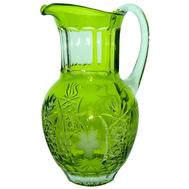 Кувшин для воды Ajka Crystal Grape, 1200мл, светло-зеленый, цветной хрусталь - арт.reseda/64571/51380/48359, фото 1