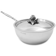 Сковорода вок Ruffoni Opus Prima, нержавеющая сталь, 4л 24см - арт.B24 Ruffoni, фото 1