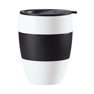 Термокружка Koziol Aroma To Go 2.0, чёрно-белая, 400мл - арт.3589479, фото 1