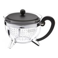 Чайник заварочный Bodum Chambord, с ситечком, черный, 1.3л - арт.1970-01, фото 1