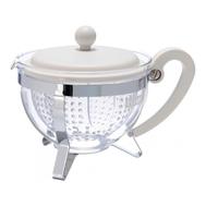 Чайник заварочный Bodum Chambord, с ситечком, белый, 1.3л - арт.1970-913, фото 1