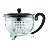 Чайник заварочный Bodum Chambord, с ситечком, черный, 1 л - арт.1975-01, фото 1