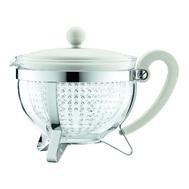 Чайник заварочный Bodum Chambord, с ситечком, белый, 1 л - арт.1975-913, фото 1