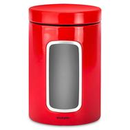 Банка для сыпучих продуктов Brabantia, красная, 1.4л - арт.484063, фото 1