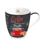 Кружка фарфоровая Easy Life R2S Coffee, белая с черным, 0,35 л - арт.R2S1010_ICTR-AL, фото 1