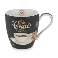 Кружка фарфоровая Easy Life R2S Espresso, белая с черным, 0,35 л - арт.R2S1010_ICTW-AL, фото 1