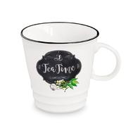 Кружка фарфоровая Easy Life R2S Кухня в стиле Ретро (чай), белая с декором, 0,35 л - арт.EL-R1603_KIBT, фото 1