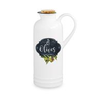 Бутылка для масла Easy Life R2S Кухня в стиле Ретро, белая с декором, 0,3 л, фарфор - арт.EL-R1609_KIBO, фото 1