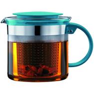 Чайник заварочный Bodum, с ситечком, бирюзовый, 1.5л - арт.a1870-978-y18, фото 1