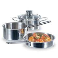 Набор посуды Fissler Snack set, нержавеющая сталь - 3 предмета - арт.831603, фото 1