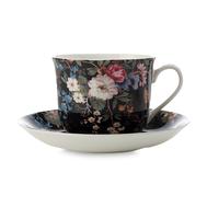 Чайная пара Maxwell & Williams Полночные цветы, белая с декором, 0,48 л, фарфор - 2 предмета - арт.MW637-WK01300, фото 1