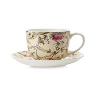 Чашка с блюдцем Maxwell & Williams Летние цветы, белая с декором, 0,25 л, фарфор - 2 предмета - арт.MW637-WK03250, фото 1