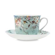 Чайная пара Maxwell & Williams Луг, белая с декором, 0,48 л, фарфор - 2 предмета - арт.MW637-WK08300, фото 1