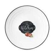 Тарелка пирожковая Easy Life R2S Кухня в стиле Ретро, белая с декором, 16 см, фарфор - арт.EL-R1622_KIBK, фото 1