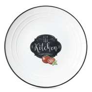 Тарелка закусочная Easy Life R2S Кухня в стиле Ретро, белая с декором, 21,5 см, фарфор - арт.EL-R1623_KIBK, фото 1