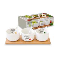 Сервировочный набор Easy Life R2S Kitchen Elements, белый, 26 х 8,5 х 7,5 см, фарфор - 7 предметов - арт.EL-R0851_KITE, фото 1