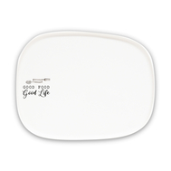 Тарелка закусочная Easy Life R2S Kitchen Elements, белая, 20,5 х 16 см, фарфор - арт.EL-R1902_KITE, фото 1