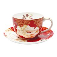 Чашка с блюдцем Maxwell & Williams Кимоно, белая с красным, 0,25 л, фарфор - 2 предмета - арт.MW637-PK0413, фото 1