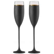 Бокалы для шампанского Eisch Champagner Exklusiv, черные/золото, 180 мл - 2 шт - арт.47750072, фото 1
