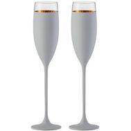 Бокалы для шампанского Eisch Champagner Exklusiv, белые/золото, 180 мл - 2 шт - арт.47750077, фото 1