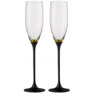 Бокалы для шампанского Eisch Champagner Exklusiv, черные/золото, 180 мл - 2 шт - арт.47750078, фото 1