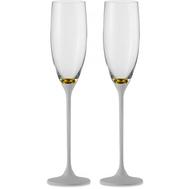 Бокалы для шампанского Eisch Champagner Exklusiv, белые/золото, 180 мл - 2 шт - арт.47750079, фото 1