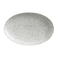 Тарелка овальная Maxwell & Williams Икра, серая, 25 х 16 см, фарфор - арт.MW602-AX0173, фото 1