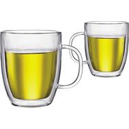 Кружки с двойными стенками Bodum Bistro, прозрачные, 0,48 л - 2 шт - арт.10606-10, фото 1