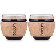 Чашки Bodum Pavina, с пробковым ободком, 0.1л - 2 шт - арт.11165-109S, фото 1
