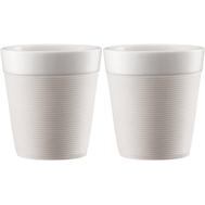 Чашки Bodum Bistro, с силиконовым ободком, белые, 0,17 л - 2 шт - арт.11581-913, фото 1