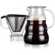 Кофейник пуровер Bodum, с фильтром, 1л - арт.11762-10-01S, фото 1