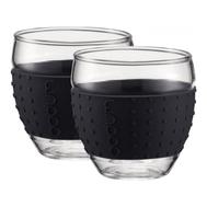 Чашки Bodum Pavina, с силиконовым ободком, черные, 0.35л - 2 шт - арт.11185-01, фото 1