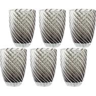 Цветные стаканы Italesse Vertigo Tumbler, чёрные, 380мл - 6шт - арт.3354, фото 1