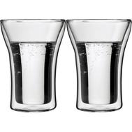 Стаканы с двойными стенками Bodum Assam, прозрачные, 0,25 л - 2 шт - арт.4556-10, фото 1