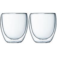 Стаканы с двойными стенками Bodum Pavina, прозрачные, 0,27 л - 2 шт - арт.4558-10, фото 1